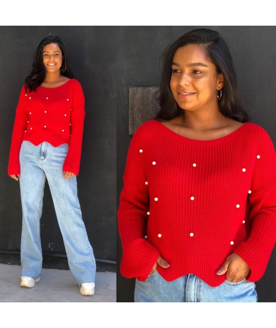 TRICOT CROPPED PEROLA